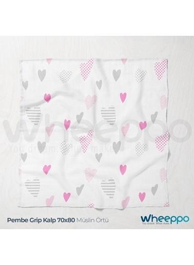 Wheeppo Pembe Kalp Müslin Örtü   70*80 Cm Renkli